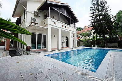 Diplomat's Villa in Dang Thai Mai, Large garden and out-door Pool