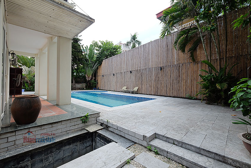 Swimming pool and garden 05BRs villa at Dang Thai Mai, unfurnished 4