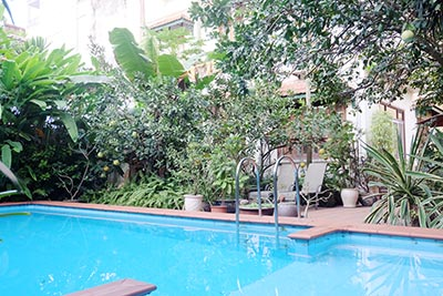 Swimming pool villa to rent on To Ngoc Van Westlake with garden