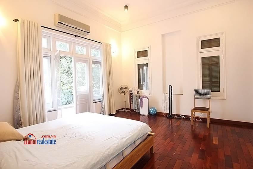 Tay Ho spacious courtyard & Swimming pool house to rent, fully furnished 15