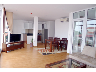 Three bedrooms serviced apartment for rent in Dang Thai Mai