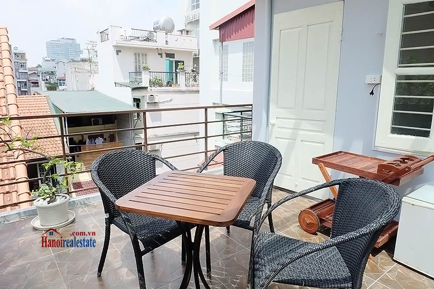 Top floor terrace 02BRs house to let in Hoan Kiem, short walk to French Embassy 16