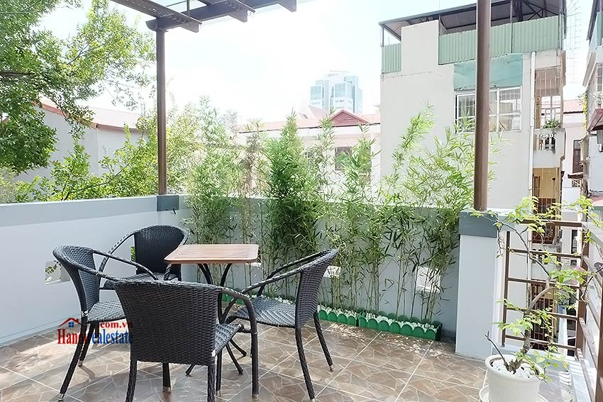 Top floor terrace 02BRs house to let in Hoan Kiem, short walk to French Embassy 17