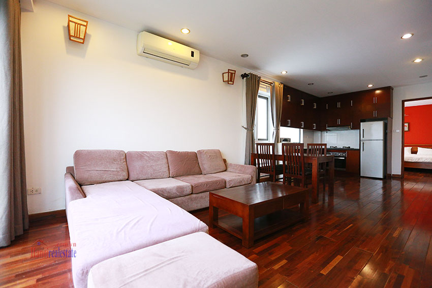 Unlimited view 2 bedroom apartment on and spacious Xom Chua Road, quiet and friendly residence 2