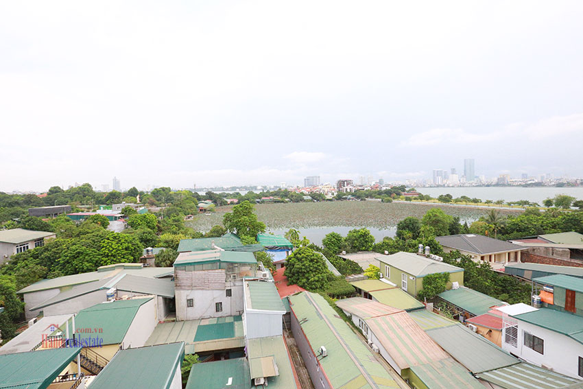 Unlimited view 2 bedroom apartment on and spacious Xom Chua Road, quiet and friendly residence 6