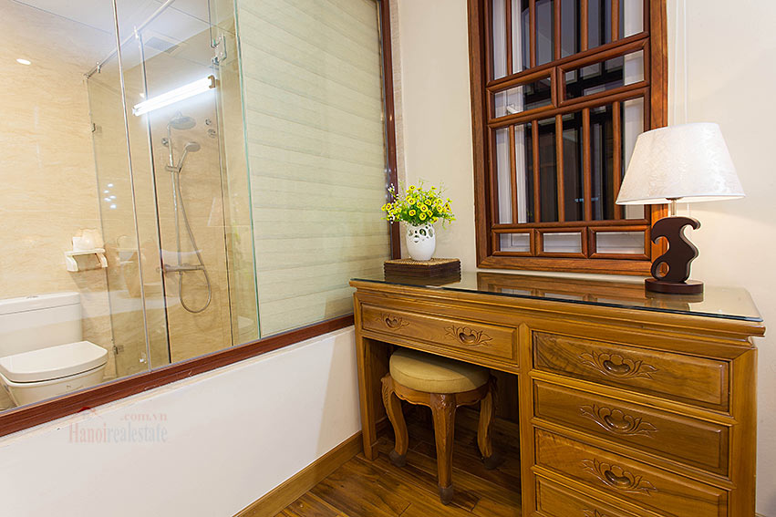 Vietnamese traditional style apartment with 2 bedrooms, spacious size 15