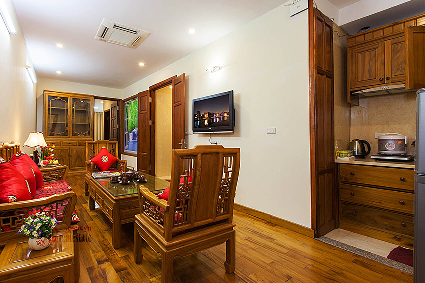 Vietnamese traditional style apartment with 2 bedrooms, spacious size 2