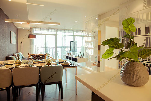 Watermark Hanoi Apartments rental - modern living room
