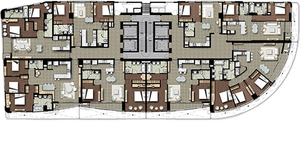 Watermark Hanoi Apartment 3 Floor plan