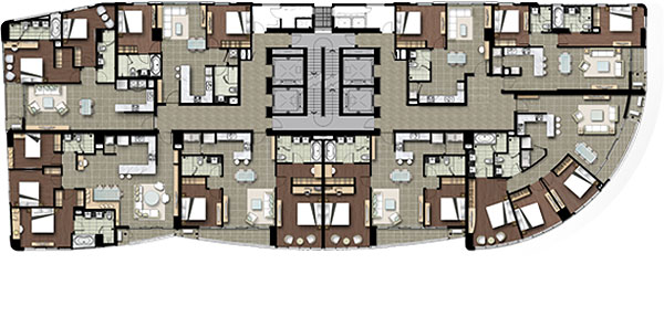 Watermark Hanoi Apartment Floor Plan of 6-17