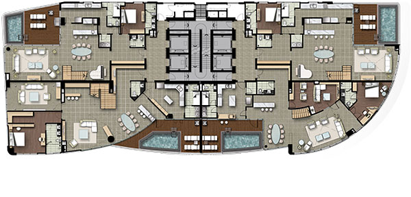 Watermark Hanoi Apartment Floor Plan of 18