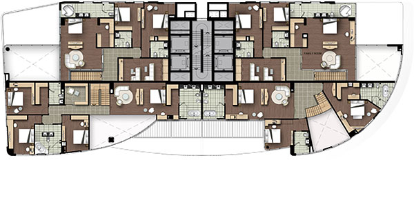 Watermark Hanoi Apartment Floor Plan of 19