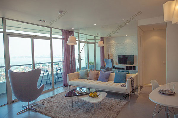 Watermark Hanoi Apartments for rent with luxury living room