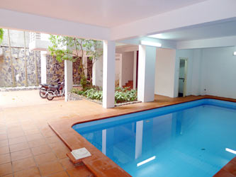 House for rent in Tay Ho, Well designed, courtyard and big swimming pool