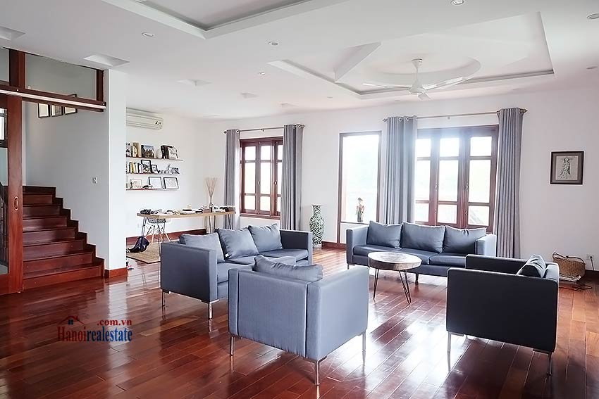 West lake view, 05 BRs villa to rent on To Ngoc Van with large garden & terrace 23