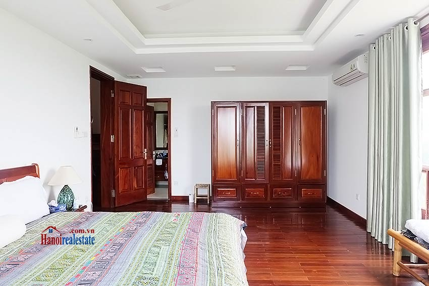 Villa For Rent On To Ngoc Van Str  Tay Ho  Large Garden  Lakeview Terrace