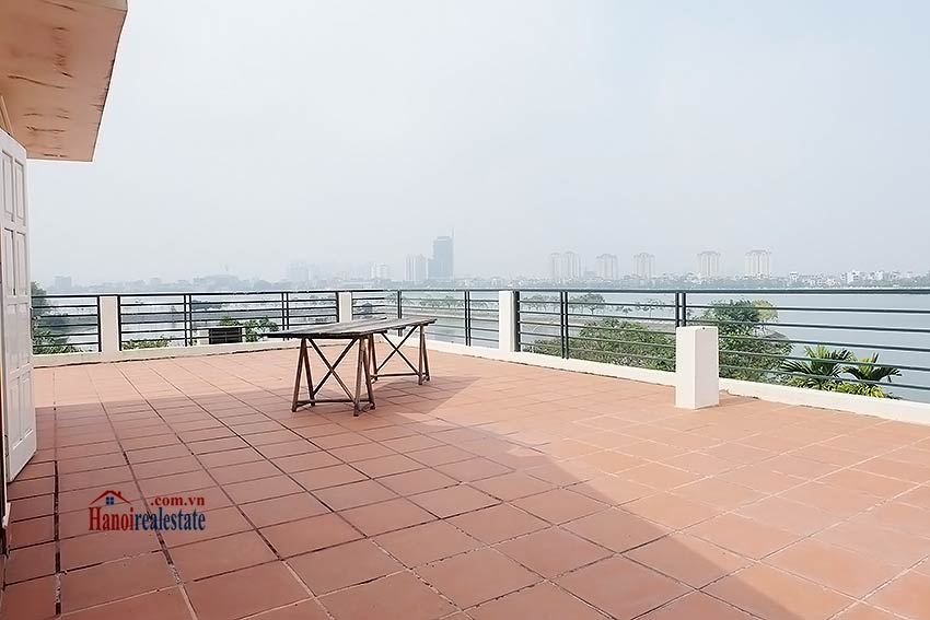 West lake view, 05 BRs villa to rent on To Ngoc Van with large garden & terrace 48