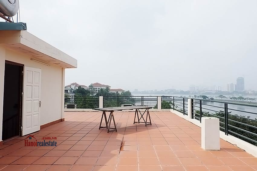 West lake view, 05 BRs villa to rent on To Ngoc Van with large garden & terrace 49