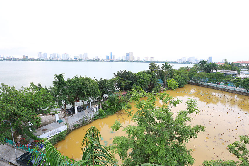 Westlake view from 5bedroom apartment on the lakeside Quang Khanh road. 10