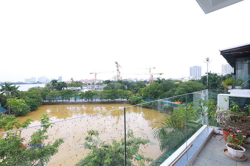 Westlake view from 5bedroom apartment on the lakeside Quang Khanh road. 11